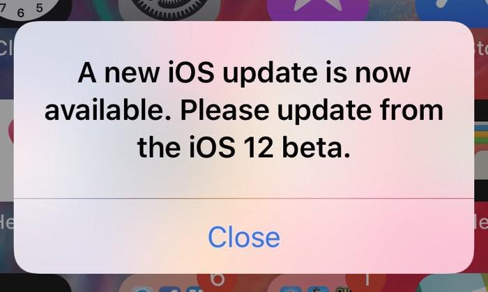 iOS 12 beta用户弹窗升级bug加剧 每次解锁都弹